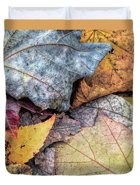 Leaf Pile Up Duvet Cover by Todd Breitling