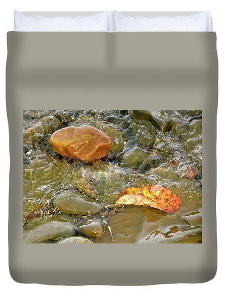 Leaf, Rock Leaf Duvet Cover