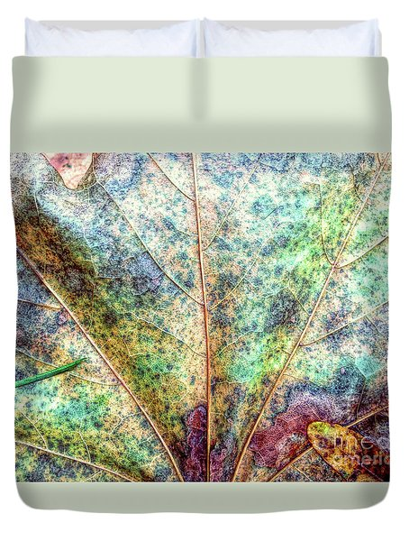 Leaf Terrain Duvet Cover by Todd Breitling