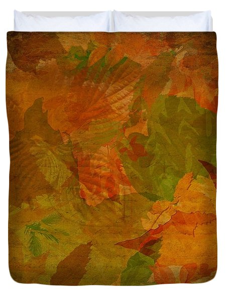Leaf Texture And Background Duvet Cover