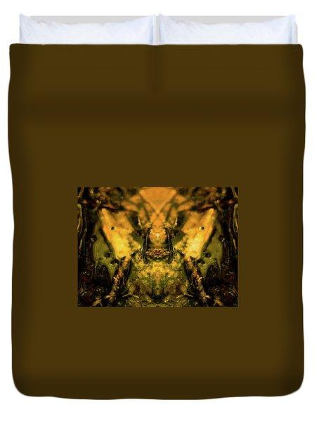 Leaf Water Worrior Duvet Cover