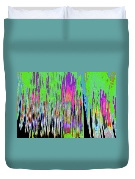 Duvet Cover featuring the photograph Leafless Trees by Tony Beck