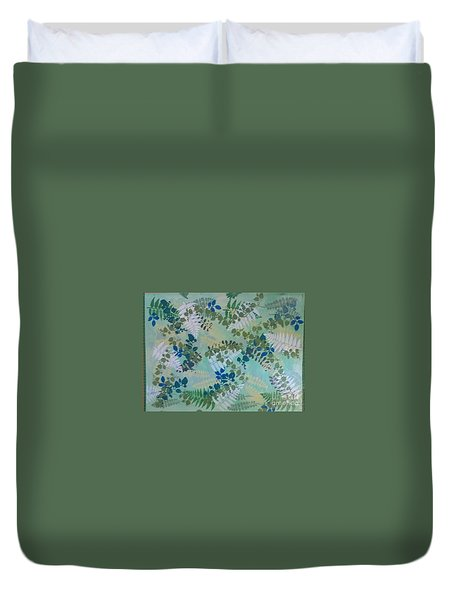 Leafy Floor Cloth - Sold Duvet Cover