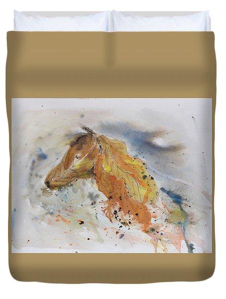 Leafy Horse Duvet Cover