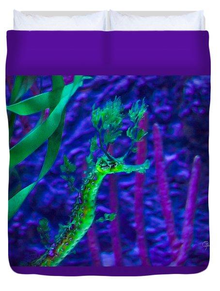 Leafy Sea Horse Duvet Cover