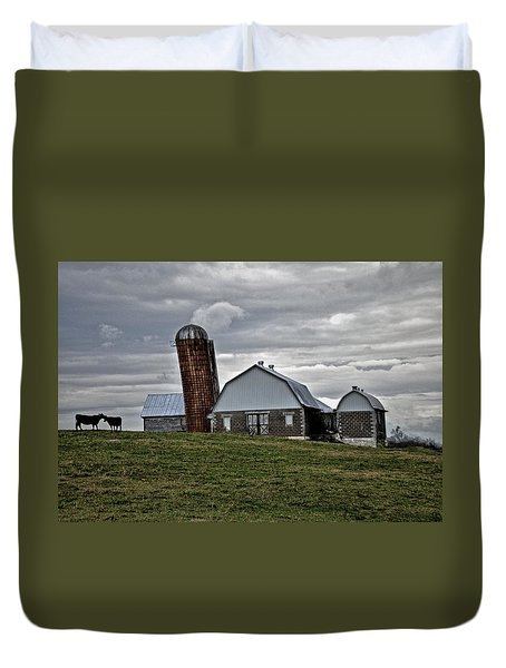 Duvet Cover featuring the photograph Lean On Me by Robert Geary