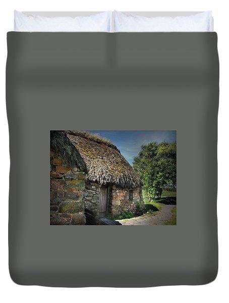 Leanach Farmhouse Culloden Moor  Duvet Cover