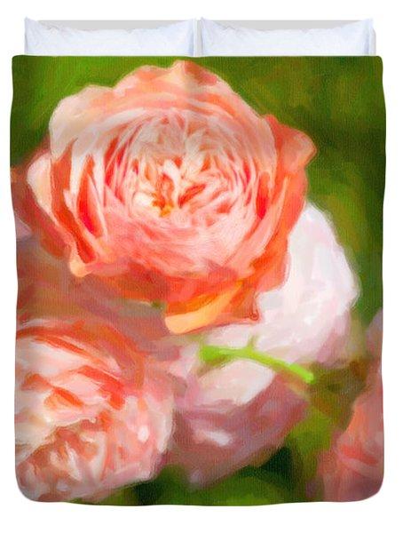 Leander English Rose Duvet Cover by Verena Matthew