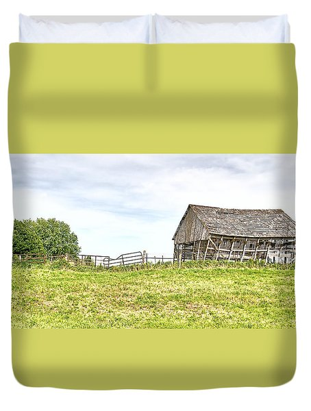 Leaning Iowa Barn Duvet Cover by Scott Hansen