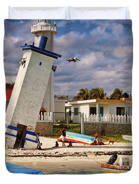 Leaning Lighthouse Duvet Cover