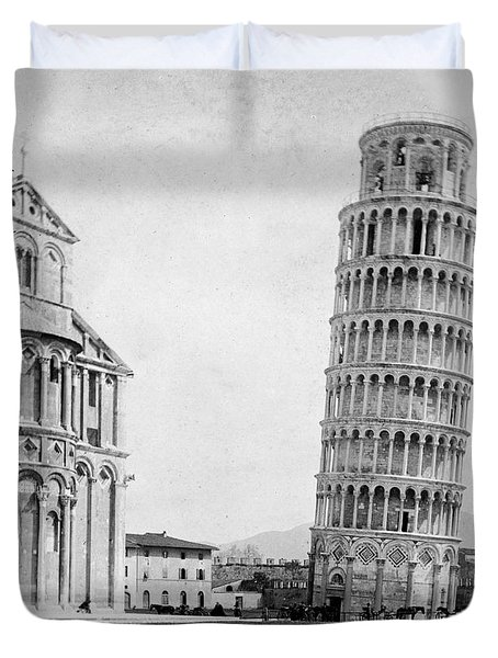 Leaning Tower Of Pisa Italy - C 1902  Duvet Cover