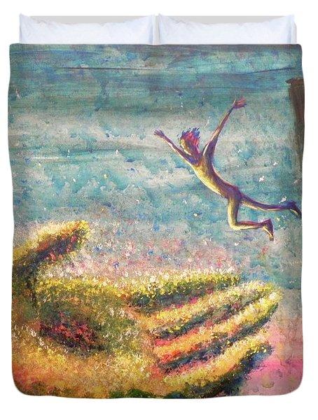Leap Of Faith Duvet Cover