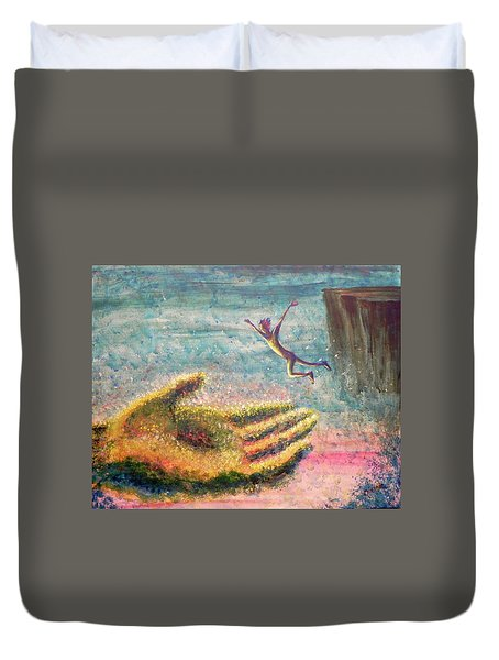 Leap Of Faith Duvet Cover