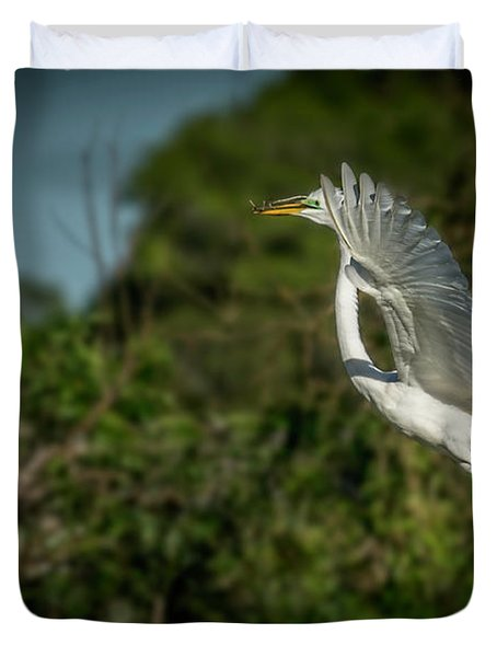 Duvet Cover featuring the photograph Leap Of Faith by Marvin Spates