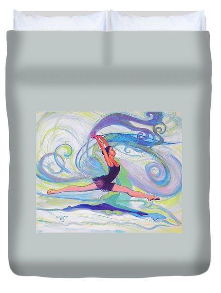 Leap Of Joy Duvet Cover by Jeanette Jarmon