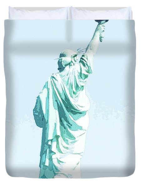 Leap Of Liberty Duvet Cover