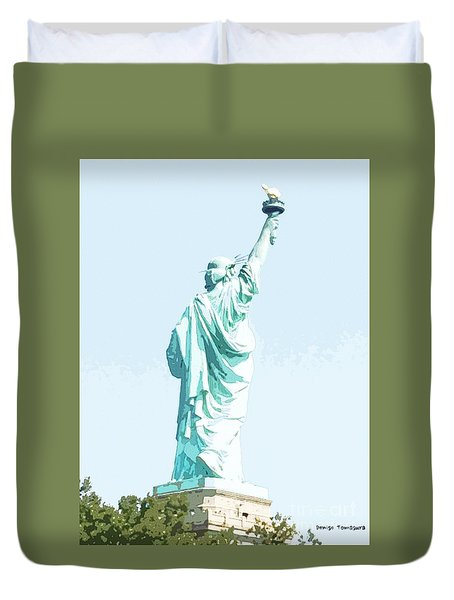Leap Of Liberty Duvet Cover