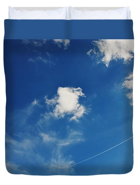 Duvet Cover featuring the photograph Leapfrog by Angela J Wright