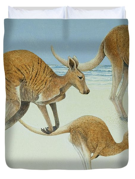 Leaping Ahead Duvet Cover by Pat Scott