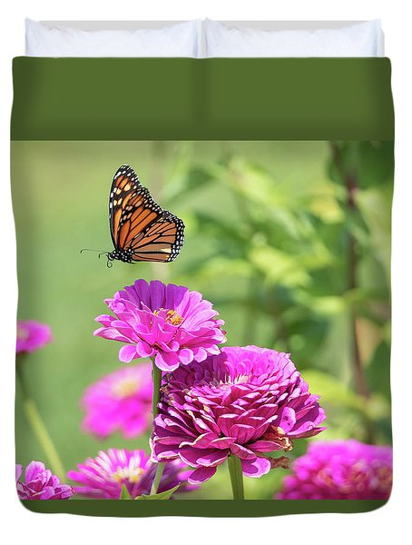 Leaping Butterfly Duvet Cover