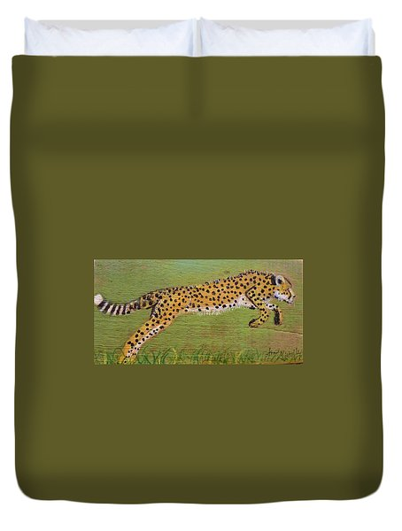 Leaping Cheetah Duvet Cover