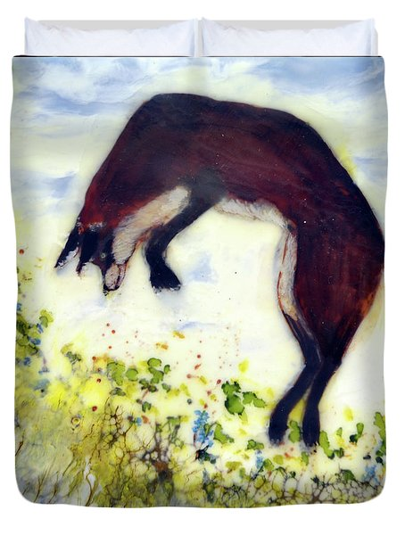 Leaping Fox 1 Duvet Cover