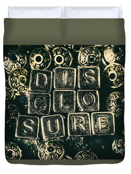 Learning Blocks Of Disclosure Duvet Cover