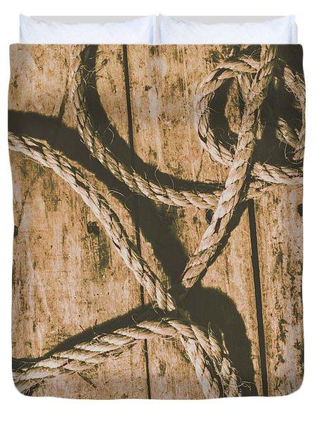 Learning The Ropes Duvet Cover