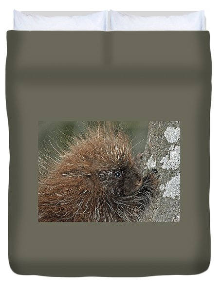Duvet Cover featuring the photograph Learning To Climb by Glenn Gordon