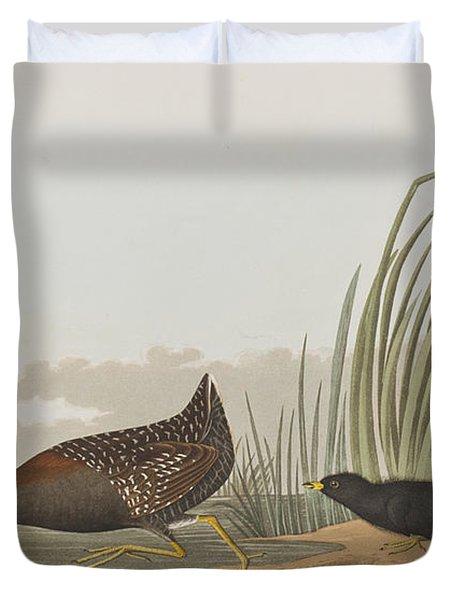 Least Water Hen Duvet Cover
