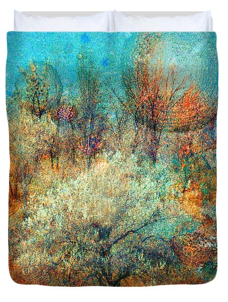 Leave It To The Trees To Dance In The Cold Duvet Cover by Tara Turner
