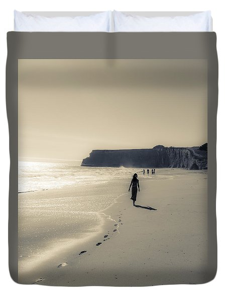 Leave Nothing But Footprints Duvet Cover by Alex Lapidus