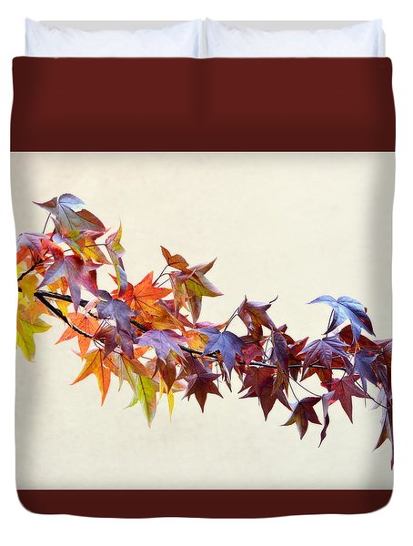 Leaves Of Many Colors Duvet Cover