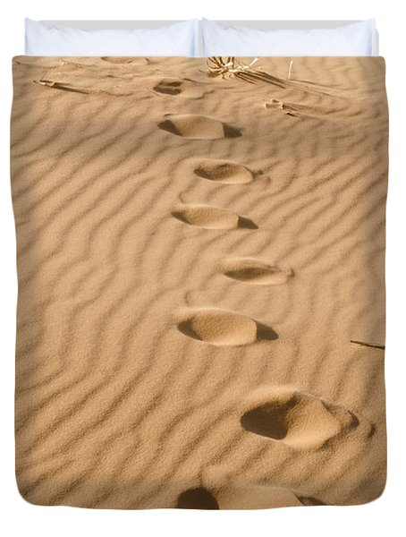 Leave Only Footprints Duvet Cover