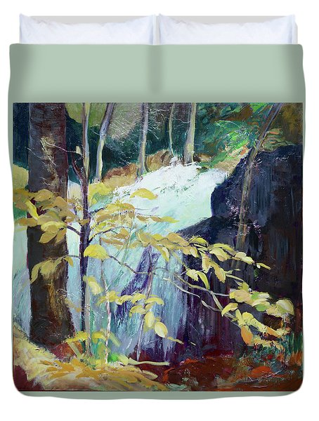 Leaves And Water Duvet Cover