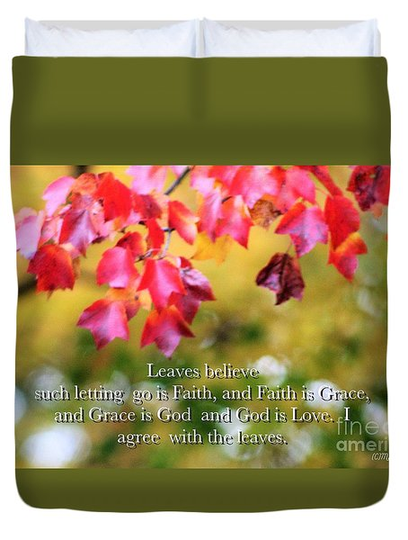 Leaves Believe Duvet Cover