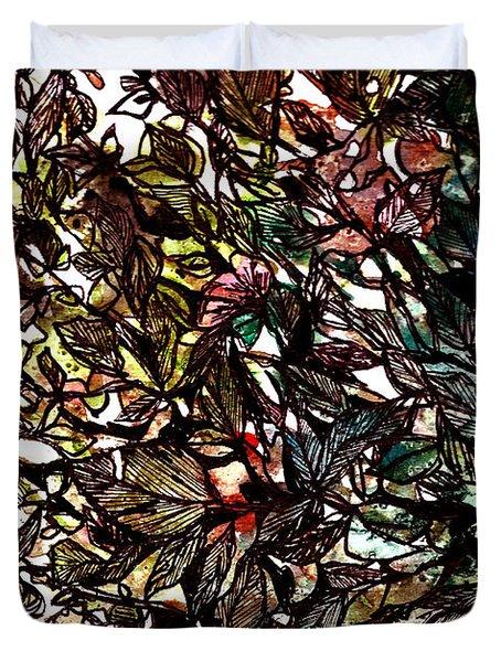 Leaves Hidden Everywhere Duvet Cover by Garima Srivastava