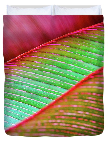 Leaves In Color  Duvet Cover