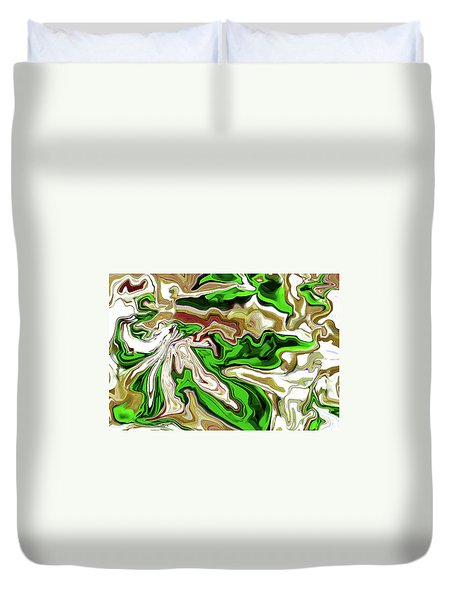 Leaves  Duvet Cover by Molly McPherson