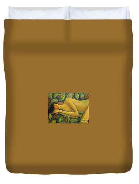 Leaves Of Absence Duvet Cover by Glenn Quist
