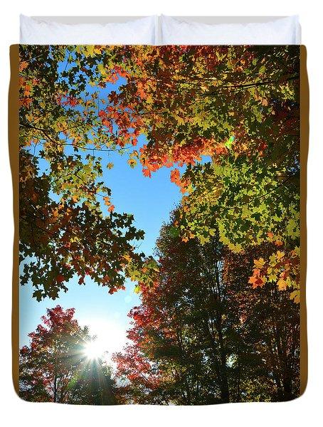 Leaves Of Change Duvet Cover