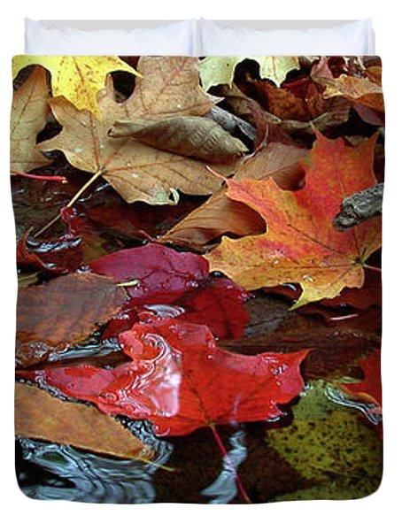 Leaves Of Color Duvet Cover