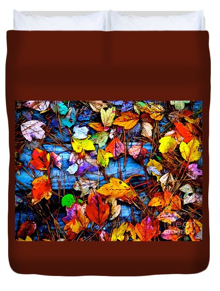 Leaves Of Colors  Duvet Cover