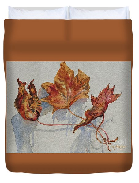Leaves Of Fall Duvet Cover by Mary Haley-Rocks