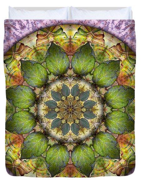 Leaves Of Glass Duvet Cover
