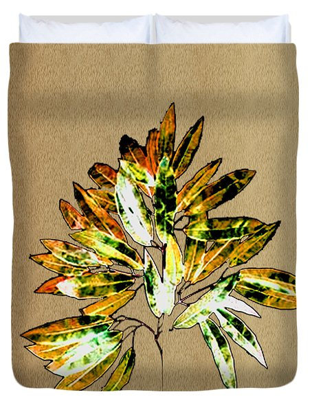 Leaves Of Many Shades Duvet Cover by Asok Mukhopadhyay