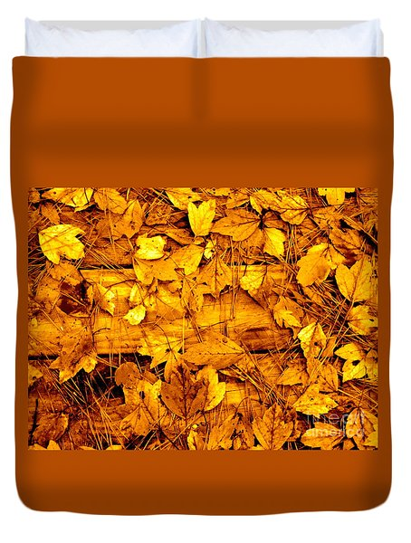 Leaves Of Sepia Duvet Cover