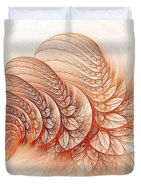 Leaves Of The Fractal Ether-2 Duvet Cover