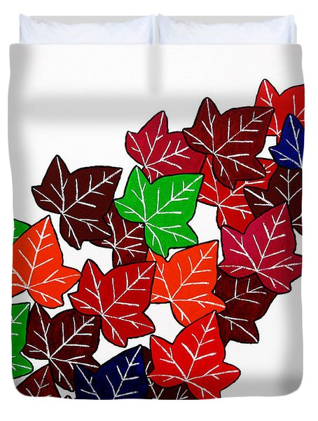Leaves Duvet Cover by Oliver Johnston