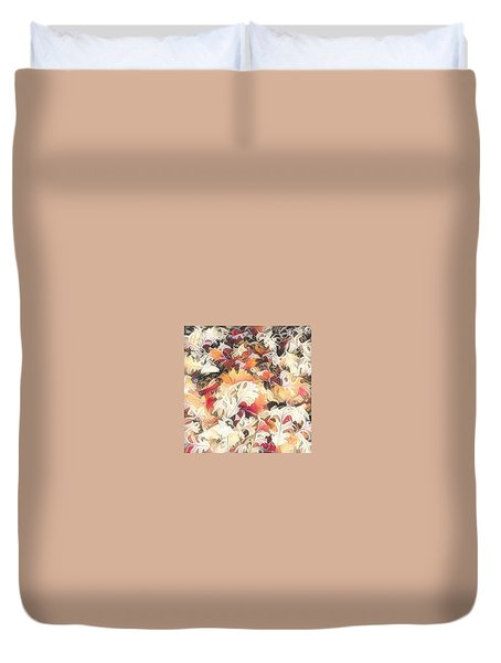 Leaves On The Ground Duvet Cover